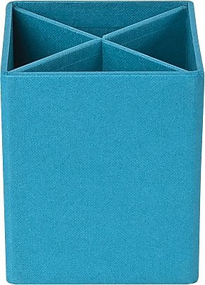 Bigso Pencil Cup with Dividers, Turquoise