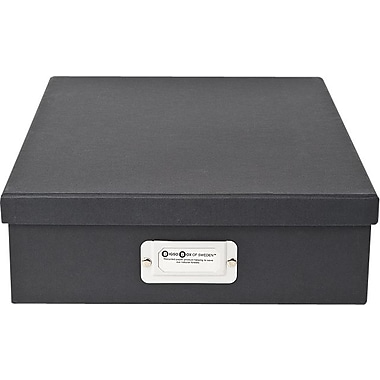 Bigso Oskar Letter Box Dark Grey