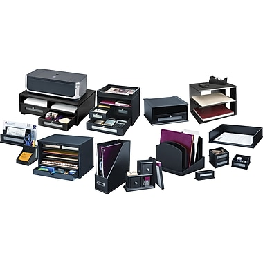 Victor® Wood Desk Accessories, Midnight Black