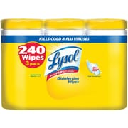 Lysol Disinfecting Wipes, Lemon and Lime Blossom, 80/Box, 3/Pack (1920084251)