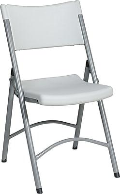 Office Star WorkSmart™ Plastic Resin Folding Chair, White