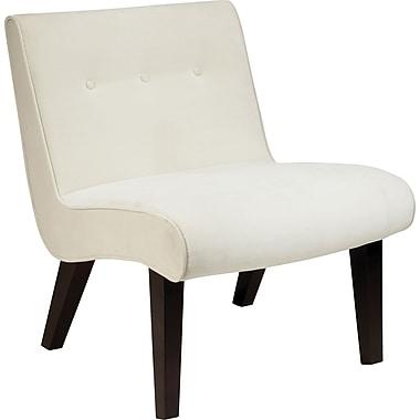 Office Star Ave Six Curves Valencia Velvet Armless Chair, Oyster (VAL51N-X12)