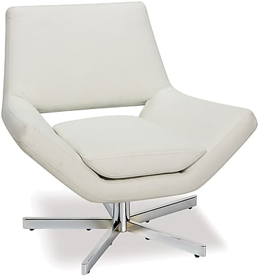 Office Star Ave Six Faux Leather Wide Chair, White (YLD5130-W32)