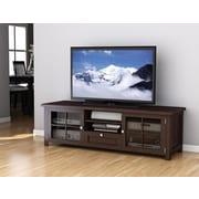 "Sonax® Arbutus 63.5"" Wood/Veneer TV Bench, Dark Black"