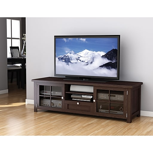 Sonax Arbutus 63 5 Wood Veneer Tv Bench Dark Black Staples