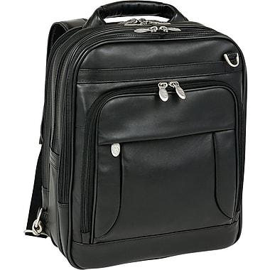 McKleinUSA Lincoln Park Leather Three-Way Computer Briefpack, Black