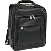 McKlein I Series, LINCOLN PARK, Full Grain Cashmere Napa Leather, Three-Way Backpack Laptop Briefcase, Black (41655)