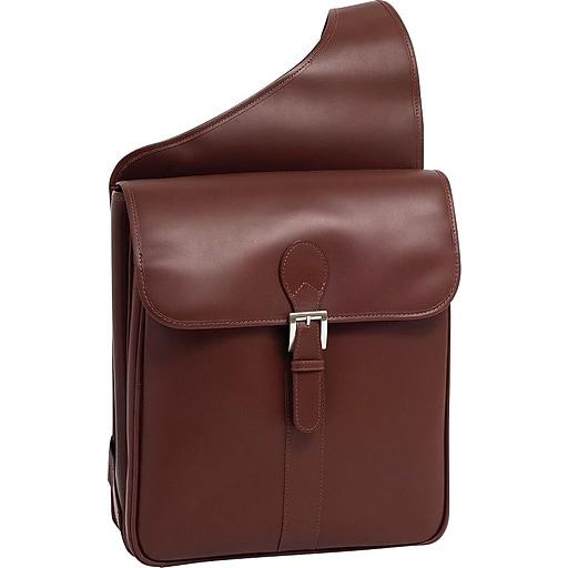 Siamod Manarola Sabotino, Oil Pull-Up Leather, Vertical Messenger Bag, Cognac (25414)
