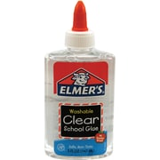 Elmer's Liquid School Glue, Clear, Washable, 5 Ounces, 1 Count