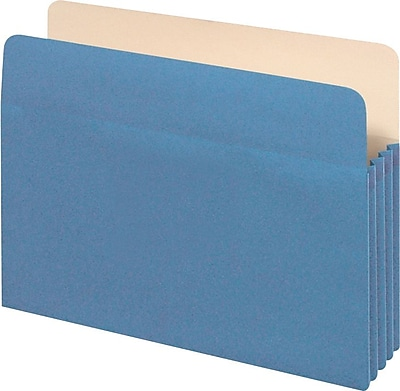 Staples® Colored Top-Tab File Pockets, 5.25