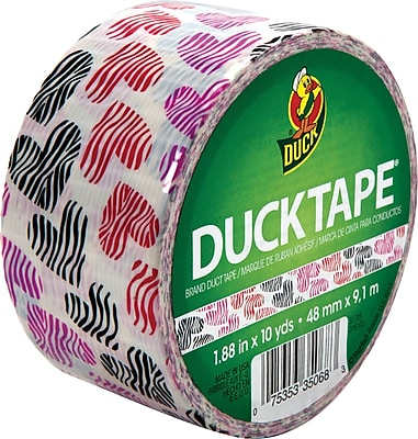 Duck Tape® Brand Duct Tape, Wild Hearts, 1.88
