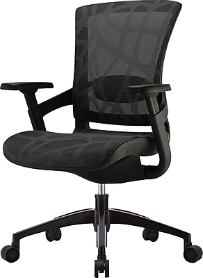 //.staples-3p.com/s7/is/  sc 1 st  Staples & Raynor Skate Ergonomic Mesh Back Office Chair Black | Staples