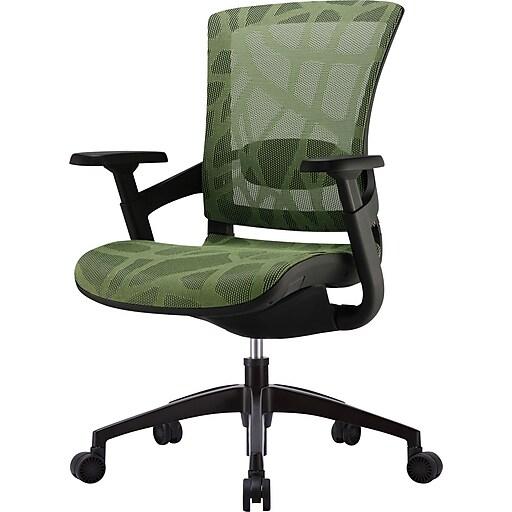 Skate Herbal Green Mesh Ergonomic Chair w/ Black Frame
