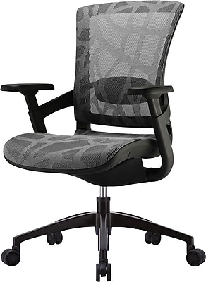 Skate Ergonomic Mesh Chair Adjustable Arms Silver Gray Staples