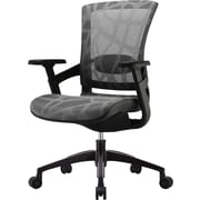 Skate Ergonomic Mesh Chair, Adjustable Arms, Silver Gray