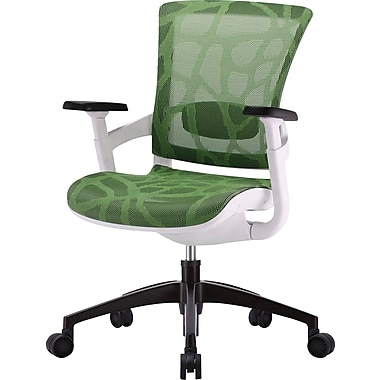 skate herbal green mesh ergonomic chair w/ white frame | staples®
