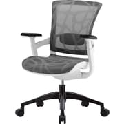 Skate Mesh Ergonomic Chair, Adjustable Arms, Gray/Silver