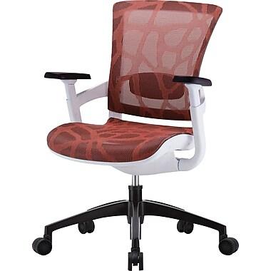 Skate Scarlet Red Mesh Ergonomic Chair w/ White Frame