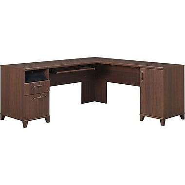 Bush® Achieve Collection L-Desk, Sweet Cherry