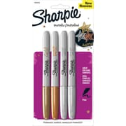Sharpie® Metallic Fine Point Permanent Marker, Assorted, 4/pk