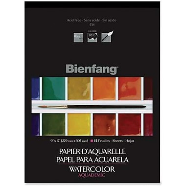 Bienfang Lightweight Aquademic Watercolour Paper Pads, 15 Sheets/Pad