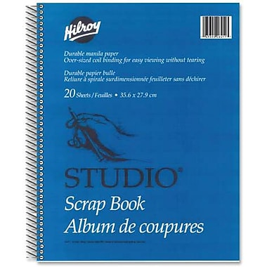 Hilroy Studio Scrapbooks with Oversized Coil Binding