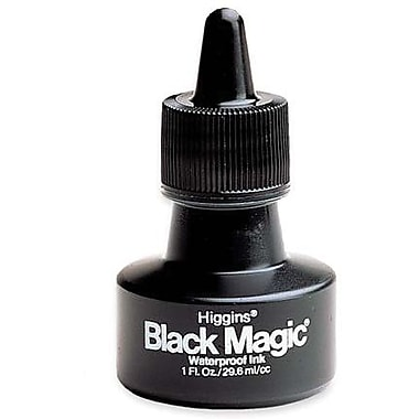 Higgins Waterproof Black Magic Ink, Black, 1 oz.