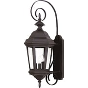 Kenroy Home Estate Medium Wall Lantern, Black Finish