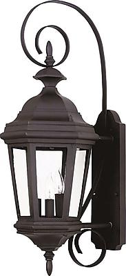 Kenroy Home Estate Medium Wall Lantern, Black Finish