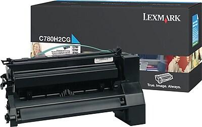 Lexmark Cyan Toner Cartridge (C780H2CG), High Yield