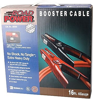 Coleman 08665 Booster Cable W/Polar-Glo Clamp, 12'(L)