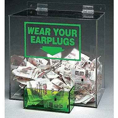 Brady® 262-PD439G Large Capacity Earplugs Dispenser