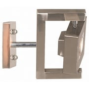 Kenroy Home Geometry 1 Light Wall Sconce, Brushed Steel Finish