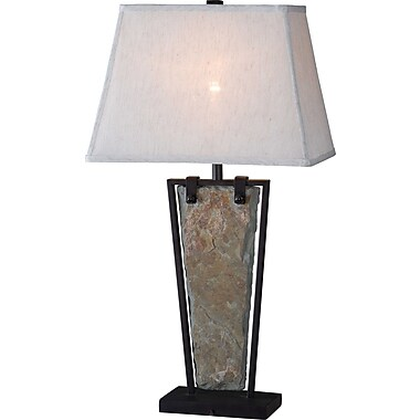Kenroy Home Free Fall Table Lamp, Natural Slate Finish