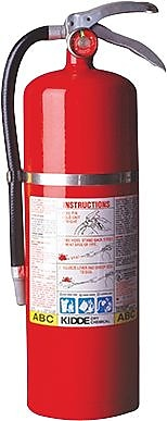 Kidde 468002 Dry Chemical Fire Extinguisher, 10 lbs.