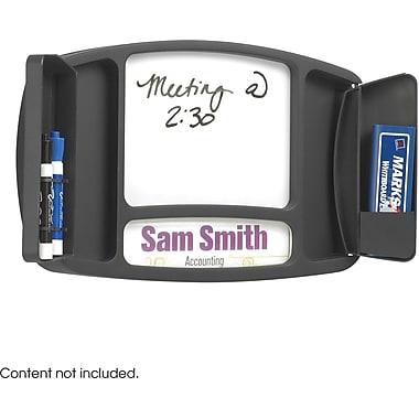 Safco® 4141 Deluxe Message Board/Name Plaque, Black