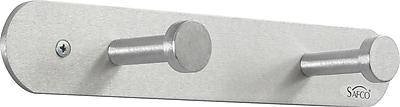 Safco® 4200 Nail Head Silver Coat Hook, 2 Hook