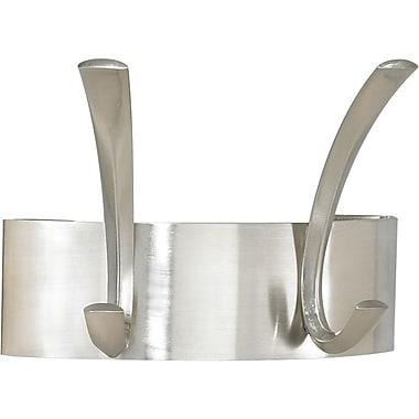 Safco® 4203 2 Hook Metal Coat Rack, Silver