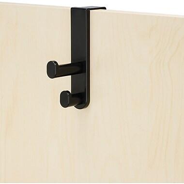 Safco® 4227 Over The Door Double Hook, Black