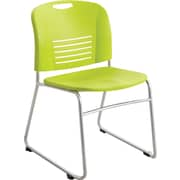 Safco® 4292 Vy Stacking Chair, Grass green