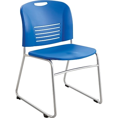 Safco® 4292 Vy Stacking Chair, Lapis