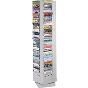 Safco 92-Pocket Rotary Steel Magazine Rack, Gray