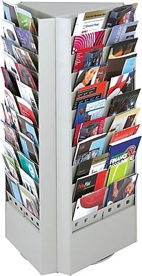 Safco 33-Pocket Rotary Steel Brochure Rack, Gray
