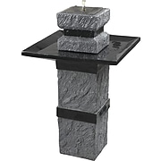 Kenroy Home Monolith Outdoor Solar Fountain, Dark Stone Finish