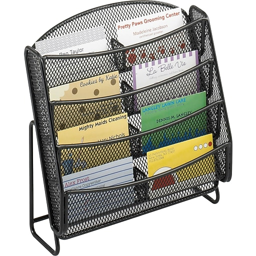 Safco 8 pocket steel mesh business card holder literature rack httpsstaples 3ps7is colourmoves