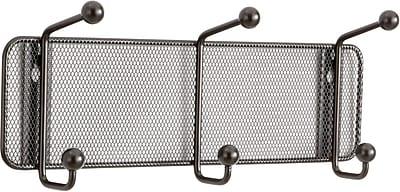 Safco® Onyx™ 6402 Black Mesh Wall Rack, 3 Hook