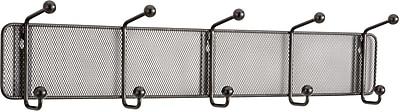Safco® Onyx™ 6403 Black Mesh Wall Rack, 5 Hook