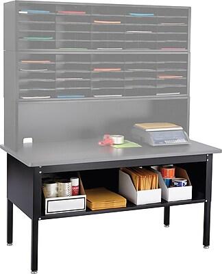 Safco® E-Z Sort® Sorting Table Base/Shelf, Black, 23 1/4