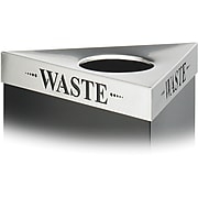 Safco Trifecta Waste Stainless Steel Trash Can Lid, 30 gal. (9560WA)
