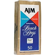 "AJM Packaging Paper 10.63""H x 5.13""W x 3.13""D Standard Lunch Bags, Brown, 1200/Pack"